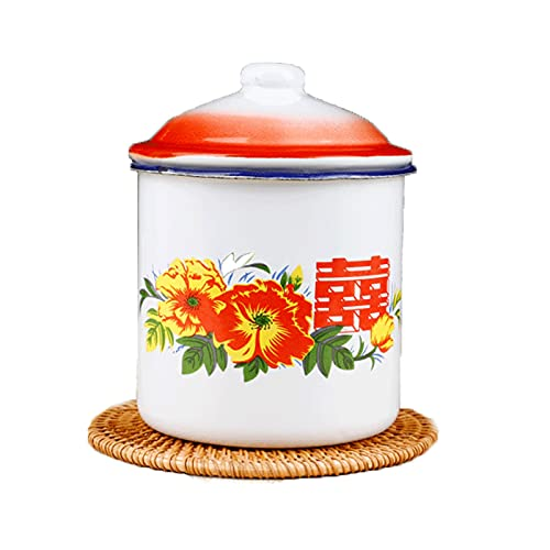 JTKJ Taza de cerámica con tapa protección del medio ambiente taza clásica de una sola capa de gran capacidad se puede utilizar en diversas ocasiones 500 ml 500 ml