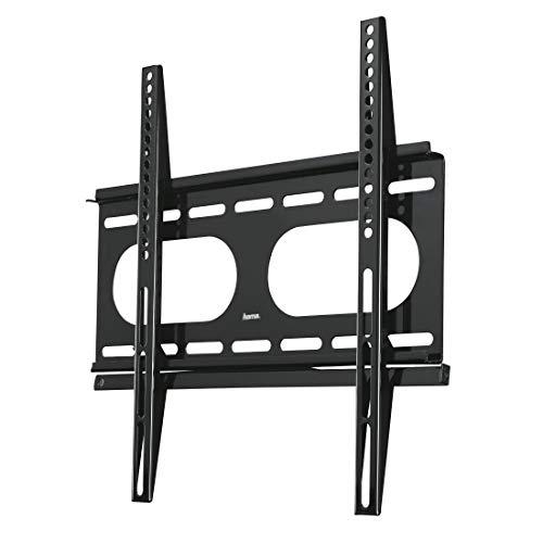 Hama TV-Wandhalterung Ultraslim (Fernseher von 32 bis 56 Zoll (81 cm bis 142 cm Bildschirmdiagonale), inkl. Fischer Dübel, VESA bis 400 x 400, Wandabstand nur 2,5 cm, max. 50 kg) schwarz
