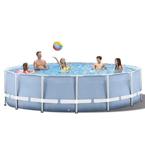 Y & Z metalen frame rond zwembad, grote capaciteit verdikt met filter pomp voor volwassen partij