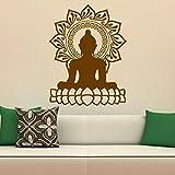 mlpnko Diseño Indio Buda Lotus Adhesivos de Pared Decoración del hogar Vinilo removible Tatuajes de Pared Arte,CJX13598-101x77cm