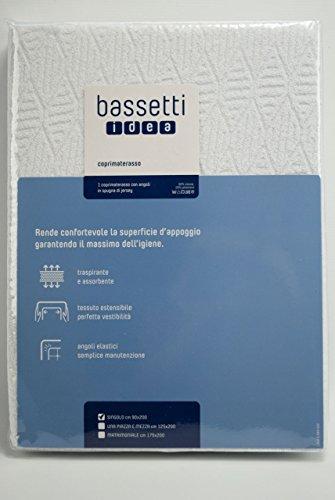 Bassetti Idea Coprimaterasso, Cotone, Binco, 175x200x0.4 cm