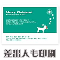 【差出人印刷込み 30枚】 クリスマスカード XS-39 ハガキ 印刷 Xmasカード 葉書