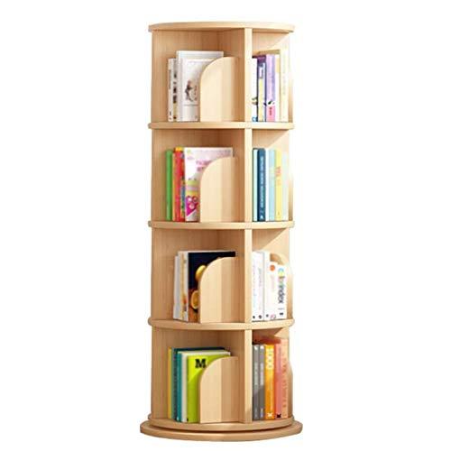 Independiente decorativo Libres, estanterías giratorias de ahorro de espacio, estantes de libros infantiles, estantes de libros de imágenes, botones de piso a techo. Organizador de almacenamiento mult