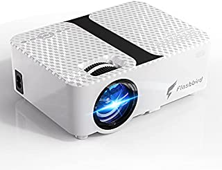 "FLASHBIRD Mini Projector, High Brightness Movie Projector, Smartphone Portable Video Projector 1080P Supported and 176"" Di..."