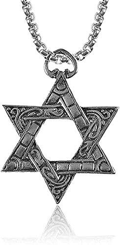 LBBYLFFF Collar Mujer Religiosa Collar Collar Punk Collar de Acero Inoxidable para Hombres Mujeres Joyas Hindúes Unisex Icoon Collares Pendientes Joyas
