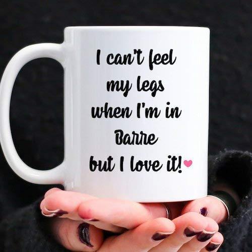 Lawenp Bonito regalo de barra para bailarín o instructor de fitness, divertida taza de café de cerámica de 11 oz