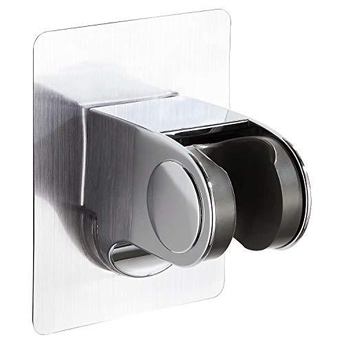 GUNMIN soporte para cabezal de ducha sin perforación, ajustable a 45 grados de la pared, soporte adhesivo para cabezal de ducha de mano, soporte sin taladros (D-1010A)