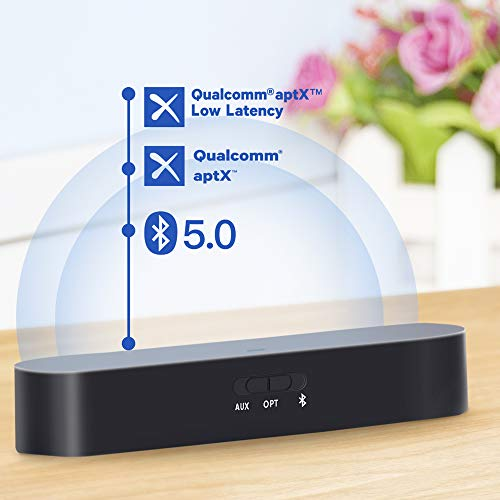 AKSONIC Bluetooth Transmitter Receiver 2 in 1 aptX Low Latency...