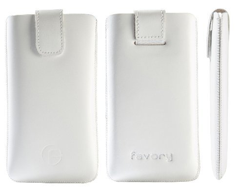 Favory Original - Funda de piel con pestaña retráctil para Huawei Ascend P6, color