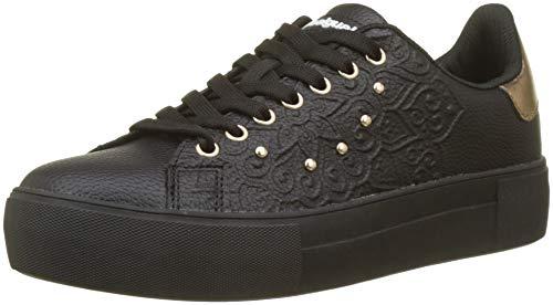 Desigual Damen Shoes_Star Winter VALKIRIA Sneaker, Schwarz (Negro 2000), 39 EU