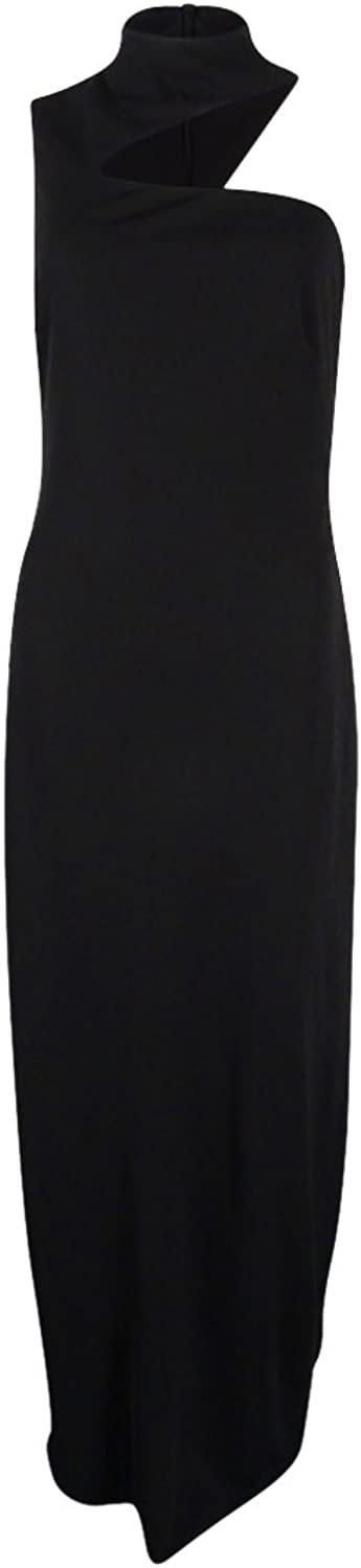 Lauren Ralph Lauren Women's Cut Out Gown (4, Black)
