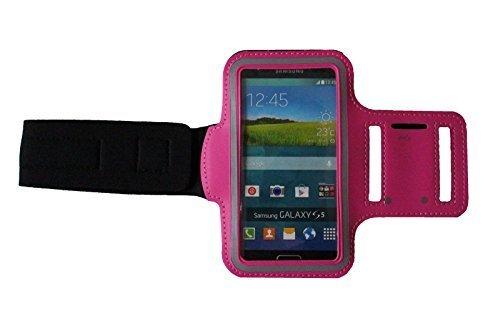 Sport-armband Pink, Fitness-hülle Running Handy Tasche Case für Apple ipod touch g iphone 3 4 5 S C, Samsung Galaxy 3 & 4 mini, Huawei Y330 Nokia Lumia 530, 532 mit Kopfhöreranschluss - Dealbude24 (Pink)