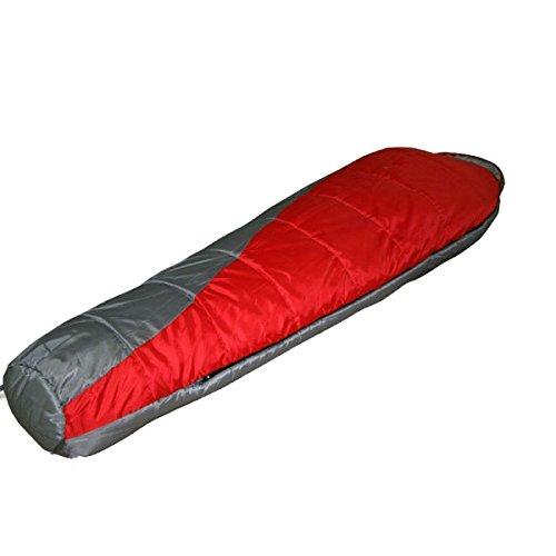 Sac De Couchage Léger Xin.S Sac De Momie 3 Saisons Sac De Compression Inclus Double Fermeture à Glissière Ultra Léger Imperméable Et Camping,Red-(190+30)*80