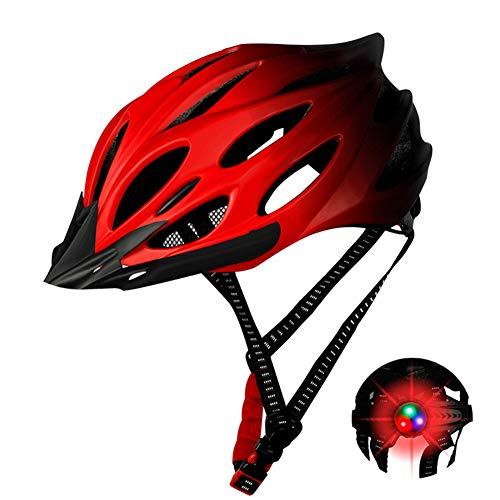 Casco de bicicleta con protección contra la luz ajustable, para hombre y mujer, casco de bicicleta de montaña, protección de seguridad ajustable
