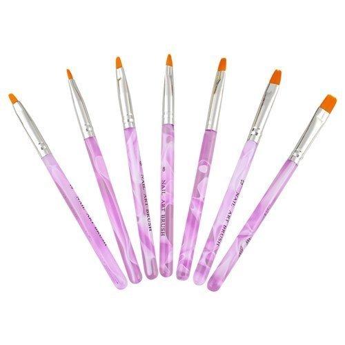 DILISEN 7pc UV Acrylic Nail Art Tips Builder Brush Pen