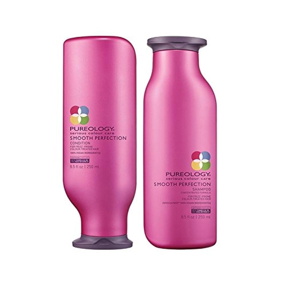 違反するカジュアル熟読するPureology Smooth Perfection Shampoo And Conditioner (250ml) - 平滑完璧シャンプー及びコンディショナー(250ミリリットル) [並行輸入品]