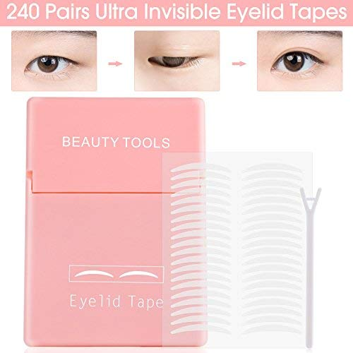 480Pcs/240Pairs Double Eyelid Tape Stickers - Ultra Invisible Breathable...