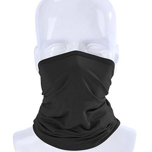 ECYC Elastic Breathable Neck Gaiter Tube Scarf Half Face Mask Motorcycle Bicycle Balaclava Headwear Pirate Hats,Black