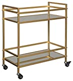 Signature Design by Ashley - Kailman Bar Cart - Mid-Century Modern - Gold Finish