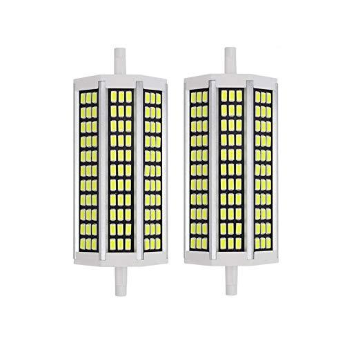 XIHAI R7S LED 135mm Stablampen 20W, Warmweiß 3000K, Ersatz für R7S J135 200W Halogenstab,2000M, 360-Grad-Beleuchtung, Nicht Dimmbar, R7S 135mm Lampen als 2er-Set,Weiß,135mm20w