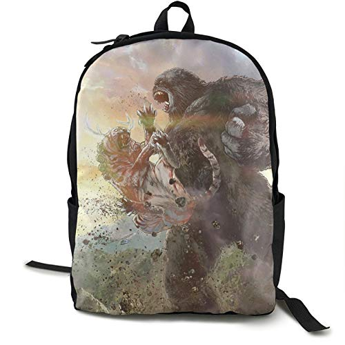 KINGDOM Project Monarch Furry William Bill Randa Skull Island comics Monkey Orangutan Shoulder Bag Simple collection Teen,Boys,Girls,Student School,Travel,Business