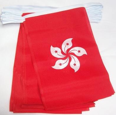 6m 20Flagge Hong Kong Material Wimpelkette