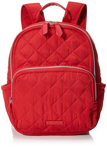 Vera Bradley Women's Performance Twill Small Backpack Bookbag, Cardinal Red, One Size