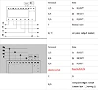 DINレール電気メーター5LEDの指示KWhメーターDINレール設置デジタル測定用(15(60)A)