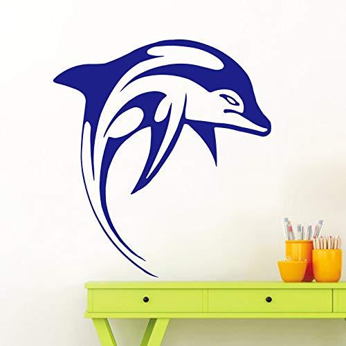 Lustige Delphin Tier Wandaufkleber für Wohnkultur Kinderzimmer Wohnzimmer Abnehmbare Wasserdichte Wandkunst Aufkleber 58X63CM