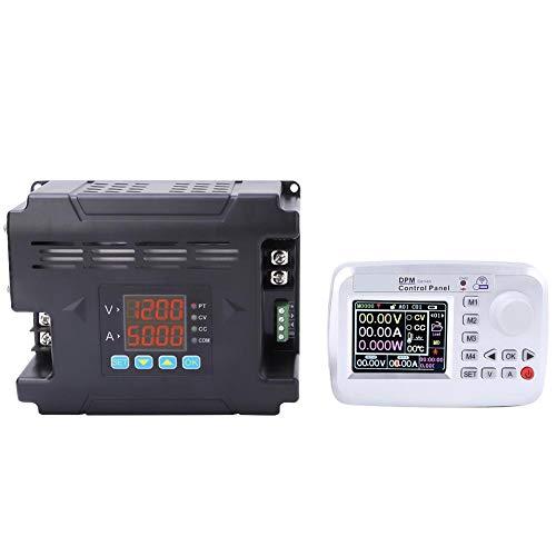 Fuente de alimentación de CC con control remoto, Walfront 0-60V 0-24A Salida Salida ajustable de DPM8624-RF Fuente de alimentación de CC programable TTL Fuente de alimentación regulada con LCD