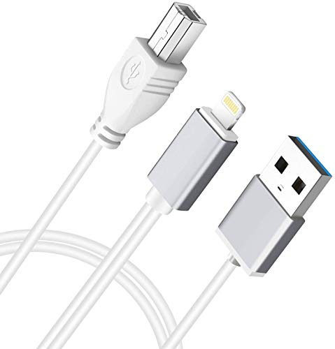 MeloAudio USB 2.0 Typ-B OTG Adapter und Aufladen MIDI Kabel kompatible iOS-Geräte zu Midi-Controller, elektronische Musik-Instrument, Midi-Tastatur, Aufnahme Audio-Schnittstelle, USB-Mikrofon, 3.3FT