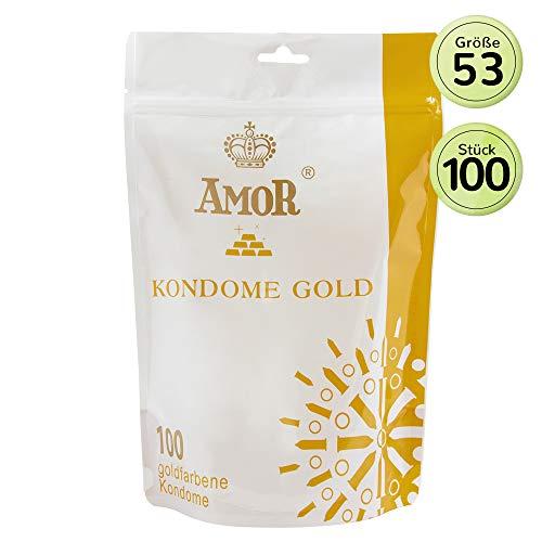 """AMOR\""""Gold\"""" 100er Pack Markenkondome, für pures Gefühl, hauchzart und feucht"""