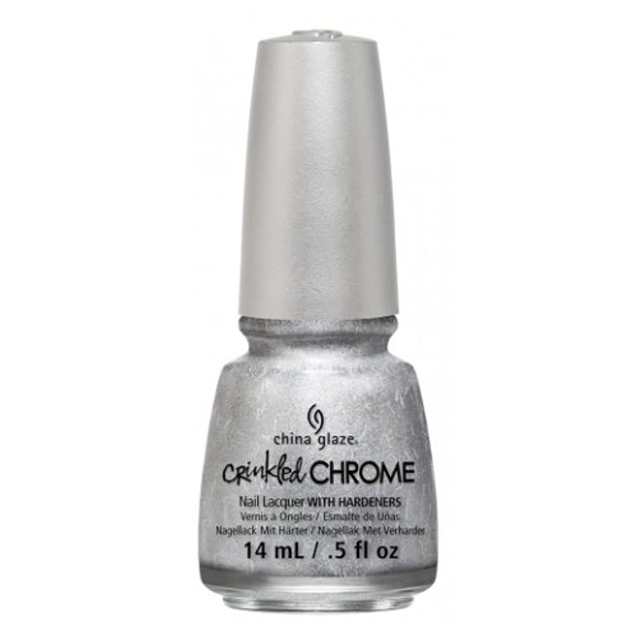 デコラティブ信者拾う(3 Pack) CHINA GLAZE Nail Lacquer - Crinkled Chrome - Aluminate (並行輸入品)
