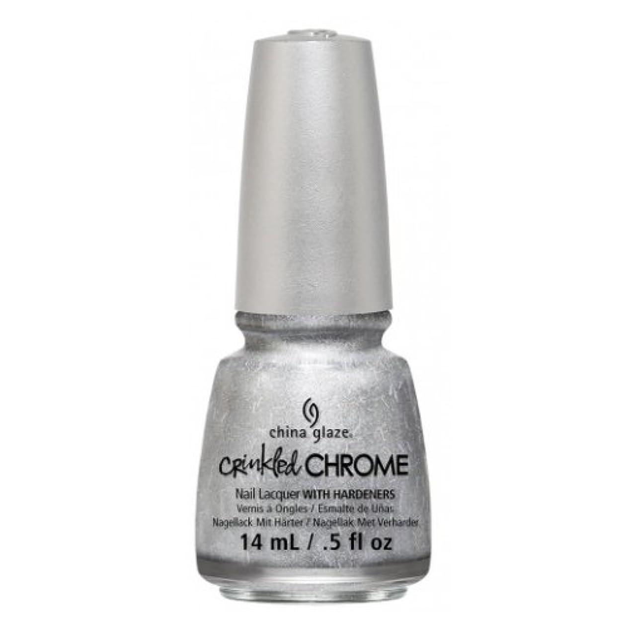 短命注意工業化するCHINA GLAZE Nail Lacquer - Crinkled Chrome - Aluminate (並行輸入品)