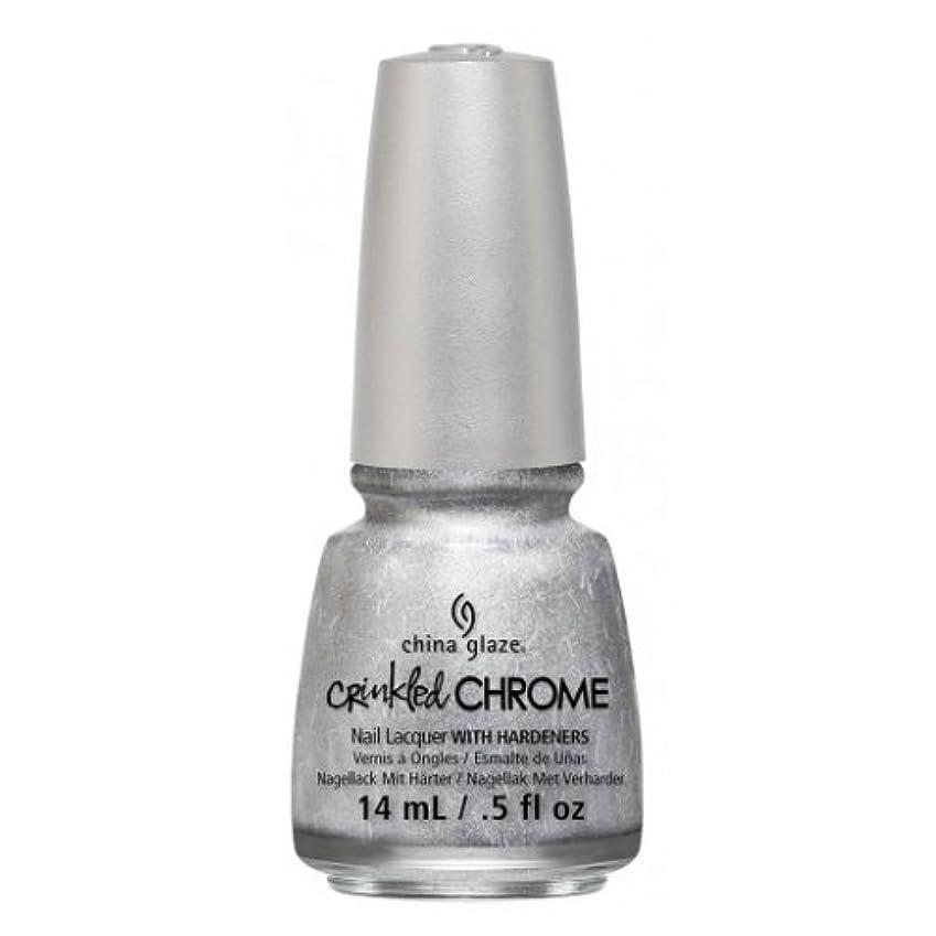 全体に市区町村揮発性(6 Pack) CHINA GLAZE Nail Lacquer - Crinkled Chrome - Aluminate (並行輸入品)