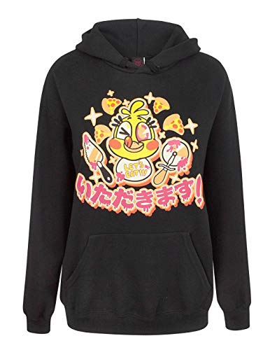 Five Nights at Freddy's FNAF Chica Kawaii Women's Black Hoodie