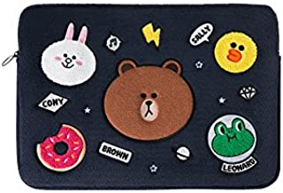 LINE FRIENDS Laptop Sleeve - BF Character 15 Inch Laptop Case Cover, Navy
