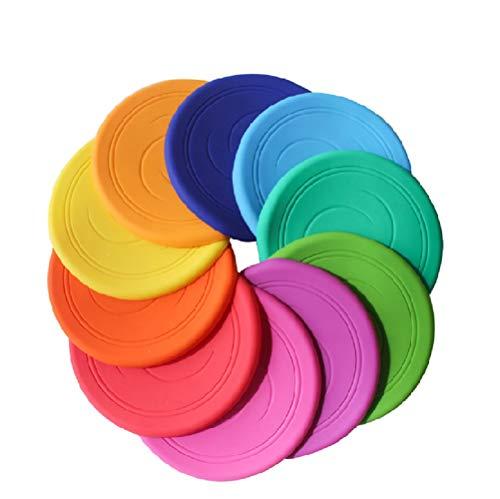 Frisbee Flying Disc Nicht rutschen Soft Silikon Spielzeug Eltern Kind Zeit Outdoor Sport 2 Stück Farbe zufällig 17 cm