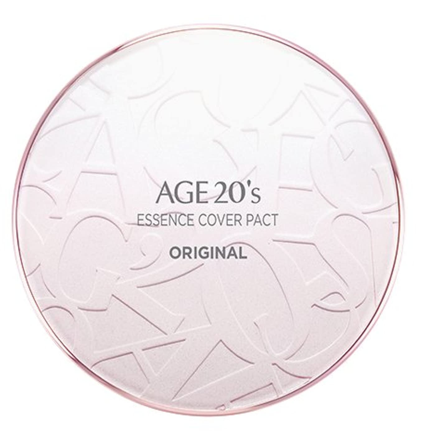 レッドデートアナロジーぴったりAGE 20's Essence Cover Pact Original [Pink Latte] 12.5g + Refill 12.5g (#21)/エイジ 20's エッセンス カバー パクト オリジナル [ピンクラテ] 12.5g + リフィル 12.5g (#21) [並行輸入品]