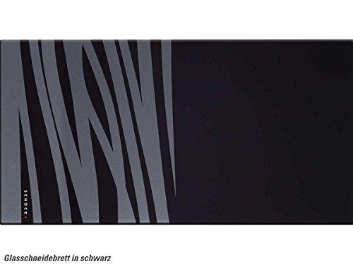 Schock 629046 Glazen snijplank zwart Accessoires r Sp le Zebra patroon wit stabiel