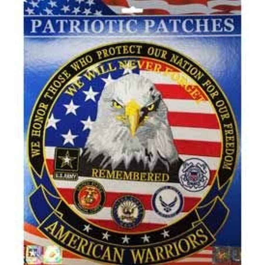 American Warriors Remembered - Patriotic Patches, Embroidered Iron On Patch - 12.5