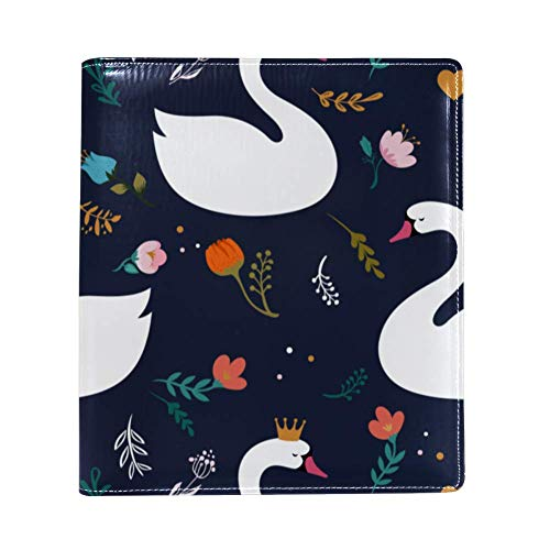 Swan Lake Seamless PatternPU leer, enkelzijdig bedrukken, polyester boek-gevoerde grote boekomslag