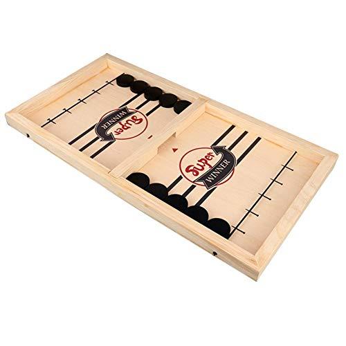 Katurn Bouncing Chess, Holz Tischspielzeug Spielzeug Schleuder Hockey Finger Hockey Brettspiel - 10 X Schachfigur - 1 X Schachbrett