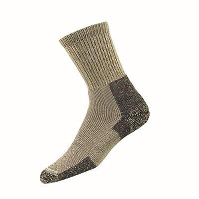 Thorlos Unisex KX Thick Padded Hiking Crew Sock, Khaki, Large