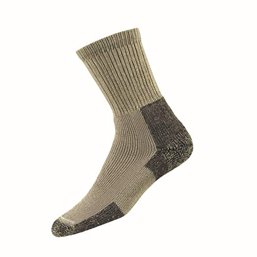 Thorlos Unisex KX Hiking Thick Padded Crew Sock, Khaki, Medium