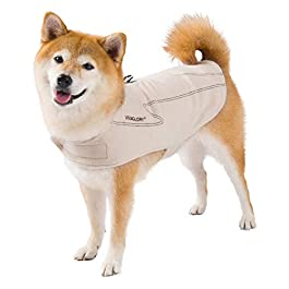 VIVAGLORY Dog Coat Fleece Jacket Vest for Small Medium Large Dogs Puppy Windproof Warm Clothes for Cold Weather