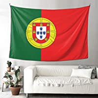 Portugal Flag タペストリー 壁掛け 装飾布 おしゃれ インテリア 寝室 カーテン 部屋飾り 多機能 大判 耐用性が強く 抗菌防臭 子供部屋 お店 雑貨 パーテイー 四季通用