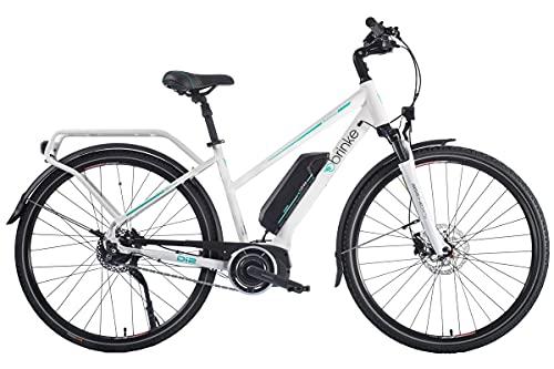 Brinke Bicicletta Elettrica E-Bike Rushmore 2 Di2 White Motore Shimano 250W, 36V, 11.6Ah - Taglia 50 - Bianca