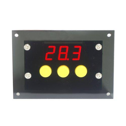 DROK Termostato Digitale Riscaldamento Raffreddamento Termostatica Commutazione Automatica -50-110 ℃ Temperatura di Controllo Con Sonda Sensore impermeabile (AC 220V)