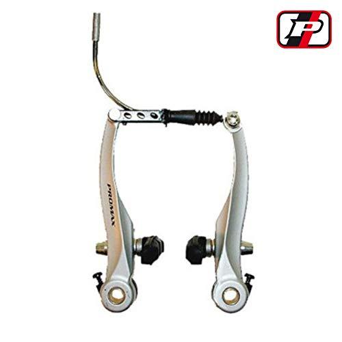 2x PROMAX bicicleta bremskörper V-Brake aluminio blanco para la parte delantera y trasera